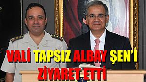 Vali Tapsız'dan Albay Şen'e Ziyaret