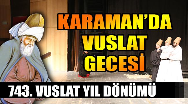 KARAMAN'DA VUSLAT GECESİ