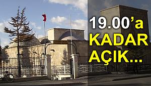 KARAMAN MÜZEZİ 19.00'A KADAR AÇIK