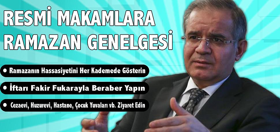 VALİ TAPSIZ'DAN RAMAZAN AYI GENELGESİ