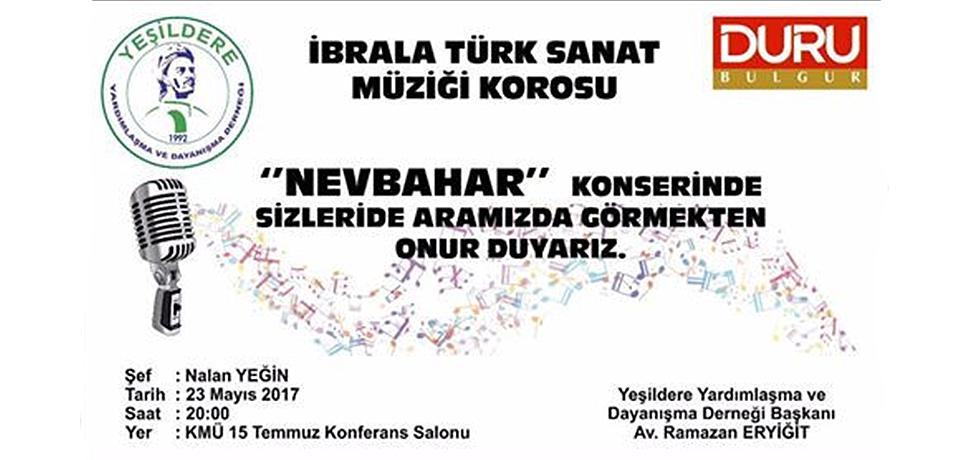YEŞİLDERE DERNEĞİ'NDEN KONSERE DAVET