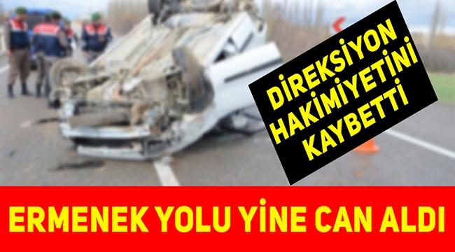 ERMENEK'TE ÖLÜMLÜ TRAFİK KAZASI