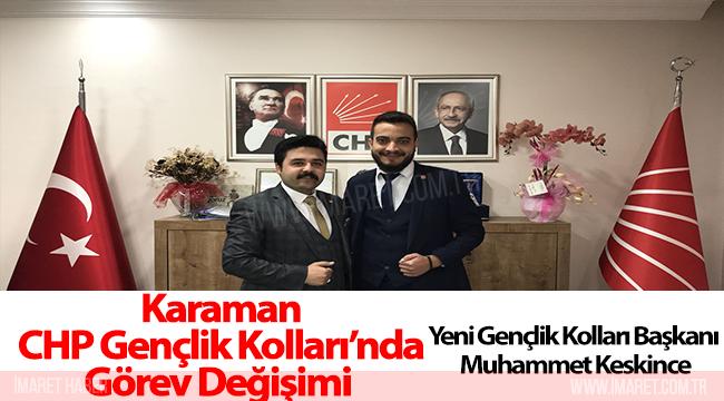 Karaman CHP Gençlik Kolları'nda Görev Değişimi