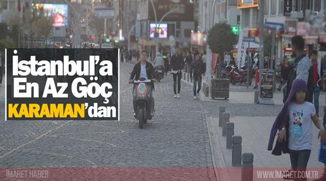 İSTANBUL'A EN AZ GÖÇ KARAMAN'DAN