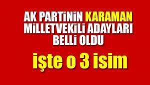 Ak Parti'nin Karaman adayları belli oldu