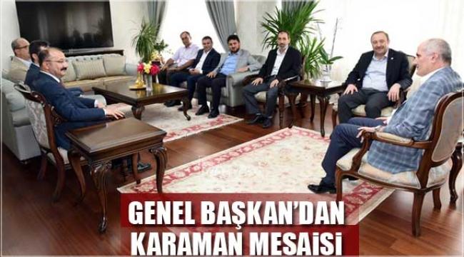 Genel Başkan'ın Karaman Mesaisi