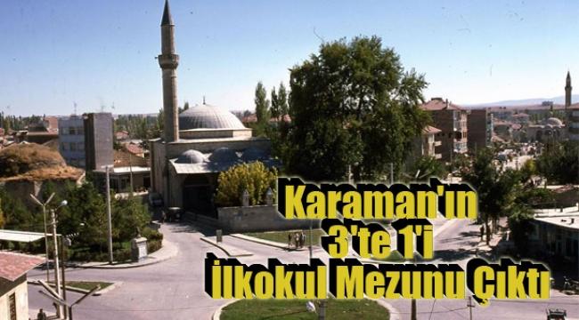 Karaman'ın 3'te 1'i İlkokul Mezunu Çıktı