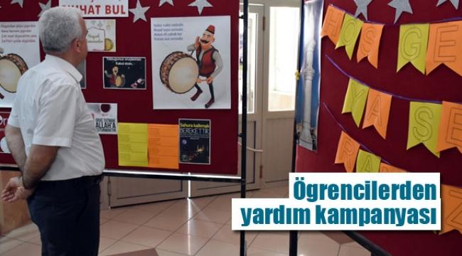 Öğrencilerden yardım kampanyası