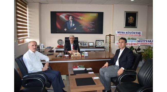Vali Meral İl Genel Meclisinin Yeni Başkanı Adem Kapar'ı Ziyaret Etti