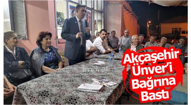 Akçaşehir Ünver'i Bağrına Bastı