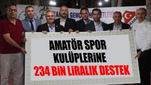 Amatör Spor Kulüplerine 234 Bin Liralık Destek