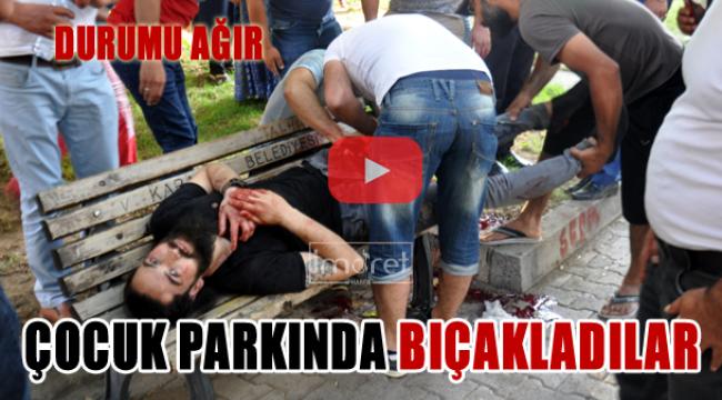 Çocuk Parkında Bıçakladılar