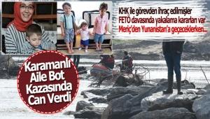Karamanlı Aile Bot Kazasında Can Verdi