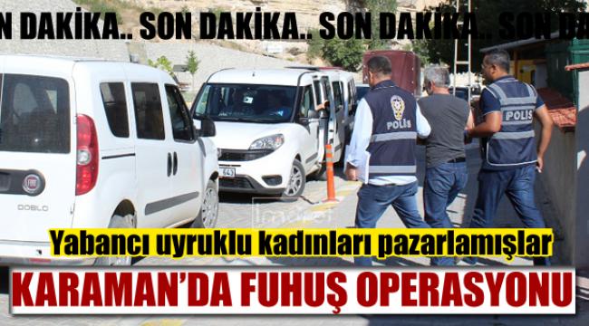 Karaman'da fuhuş operasyonu 5 gözaltı