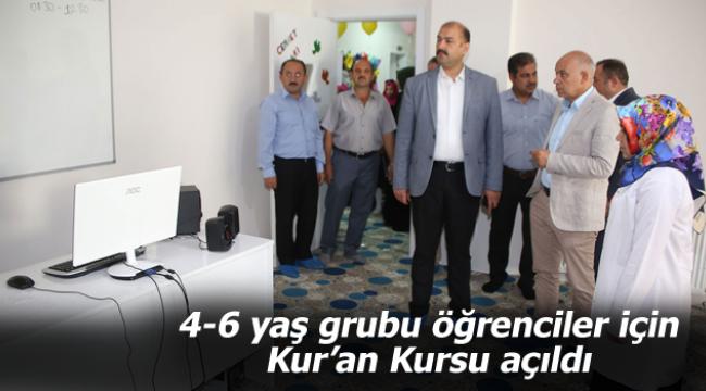 4-6 yaş grubu öğrenciler için Kur'an Kursu açıldı
