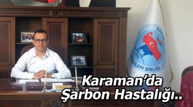 Karaman'da Şarbon Hastalığı