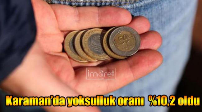 Karaman'da yoksulluk oranı %10,2 oldu