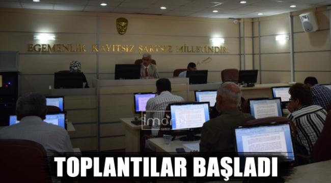 TOPLANTILAR BAŞLADI