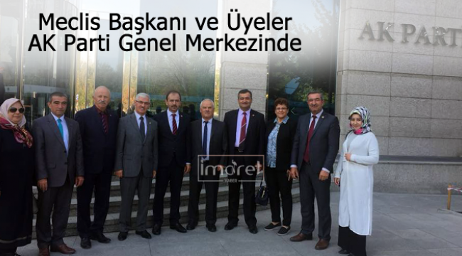 Meclis üyeleri ve Başkan Ankara'da