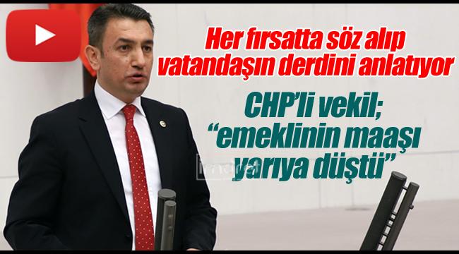 CHP'li vekil yine mecliste konuştu