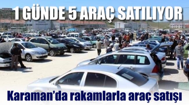 Karaman'da araç satışı her geçen gün artıyor