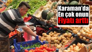 Karaman'da fiyatı en fazla artan ürün oldu