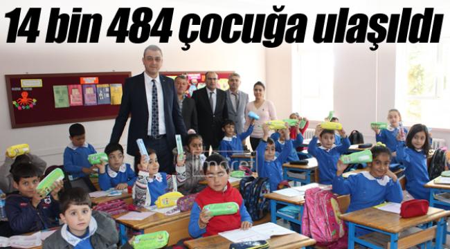 14 bin 484 öğrenciye hediye edildi