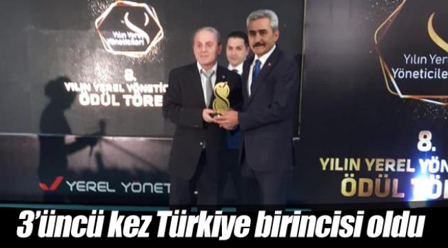 3'üncü kez Türkiye birincisi oldu