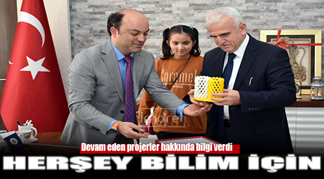 BİLSEM Projelerini Kuntoğlu'na Anlattı