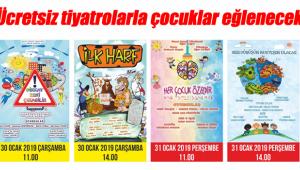 Çocuklara ücretsiz tiyatro etkinliği