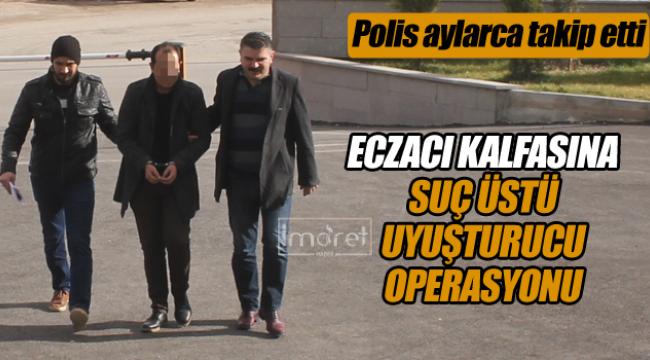 Karaman'da eczacıya suç üstü uyuşturucu operasyonu