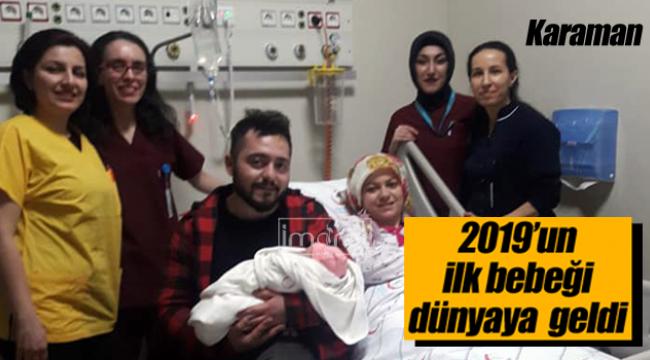 Karaman'da yılın ilk bebeği kız