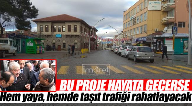 İsmet Paşa Caddesini rahatlatacak proje
