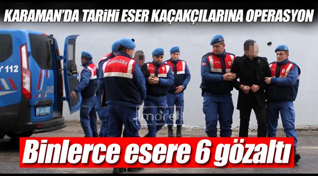 jandarma'dan operasyon 6 gözaltı var