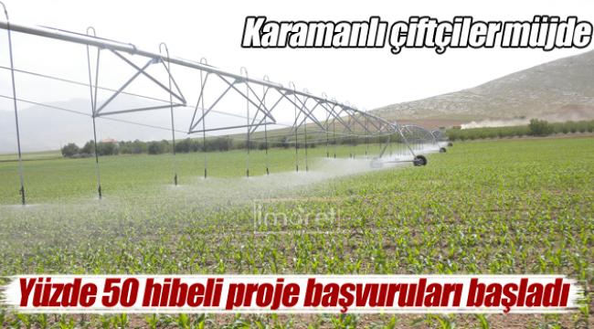 Karaman'da destekleme başvurusu başladı