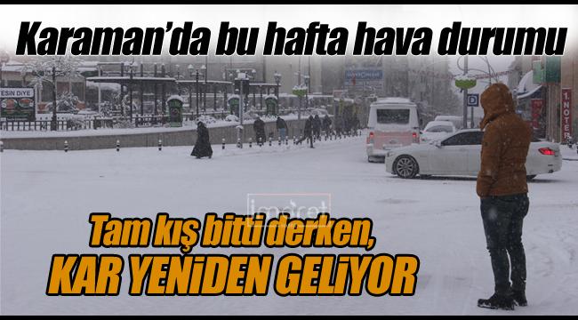 Karaman'da hava durumu