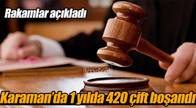 Karaman'da 1 yılda 420 çift boşandı