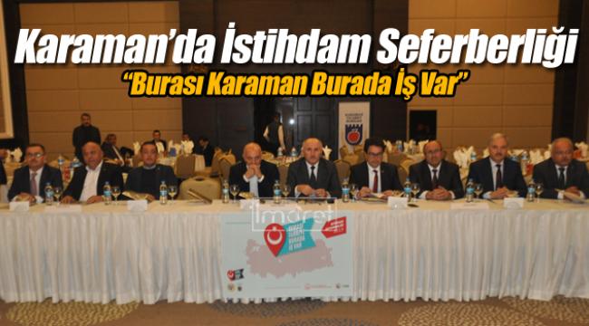 Karaman'da istihdam seferberliği
