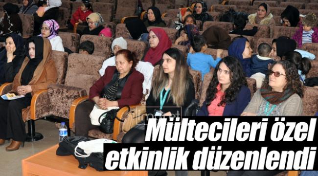 Mültecilere özel etkinlik düzenlendi