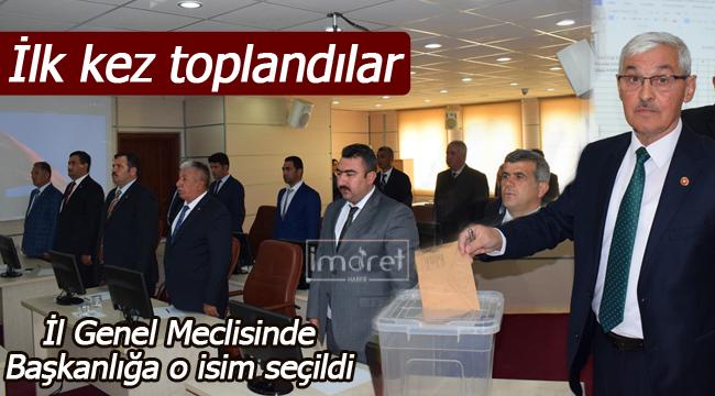 İl genel meclis başkanlığına seçildi