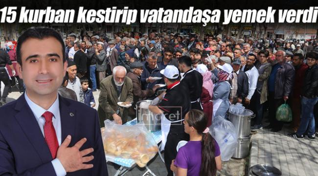 Kalaycı vatandaşlara yemek ikram etti