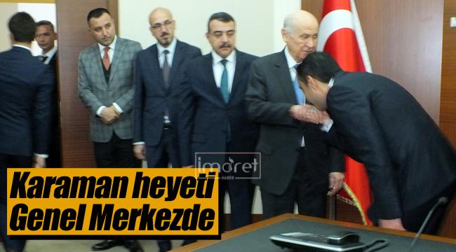 MHP Karaman heyeti Bahçeli ile görüştü