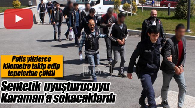 Polis uyuşturucu tacirlerinin tepesine çöktü