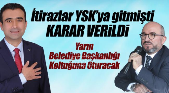 YSK Karaman Belediye Başkanlığı kararını verdi