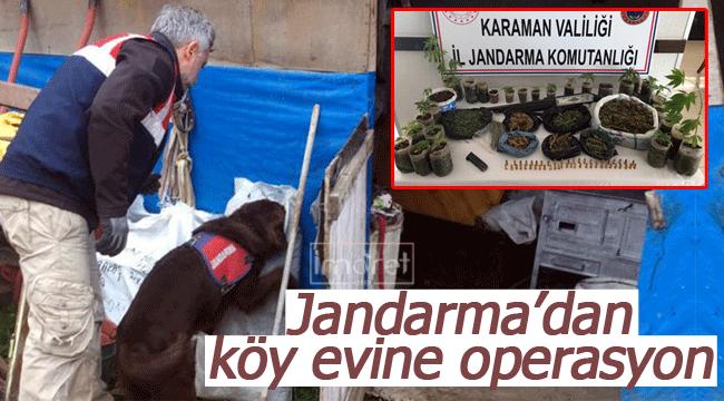 Jandarma'dan köy evine operasyon