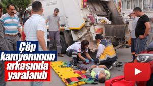 Temizlik görevlisi yaralandı