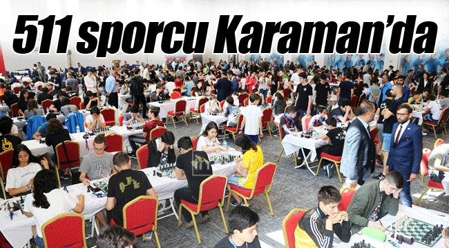 511 sporcu Karaman'da