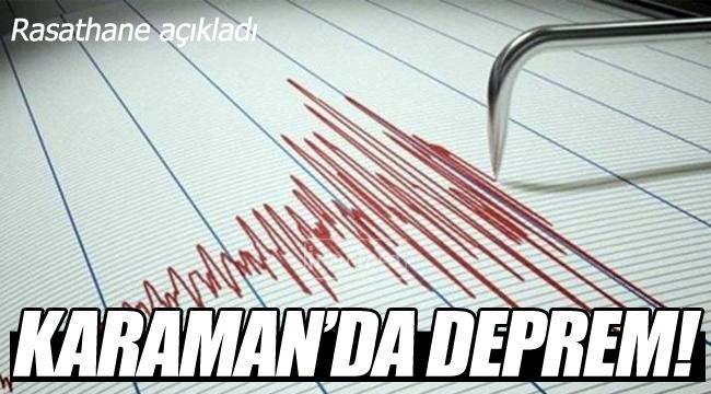 Karaman'da deprem