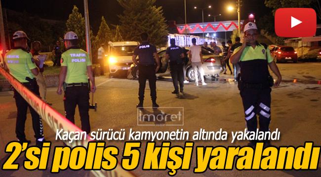 Polis aracı otomobil ile çarpıştı, 2'si polis 5 kişi yaralandı