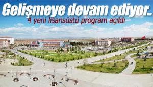 4 yeni lisansüstü program açıldı